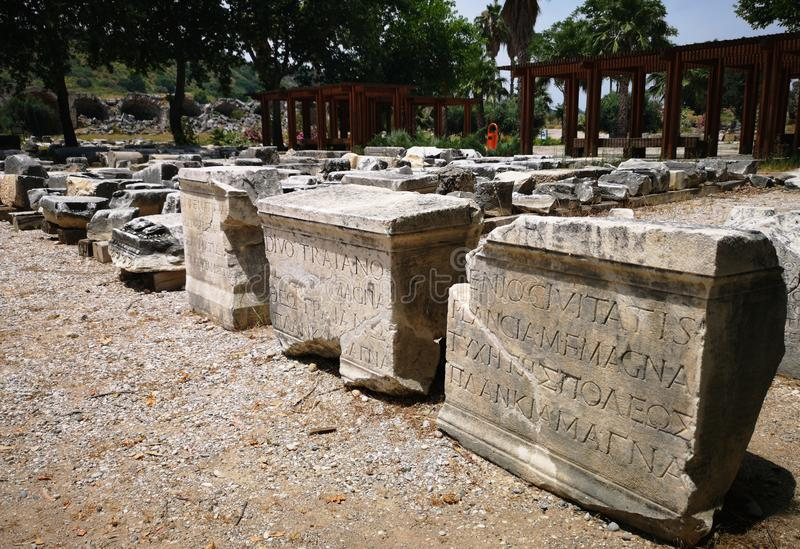 Archaeological site of Perge, Antalya, Turkey stock image
