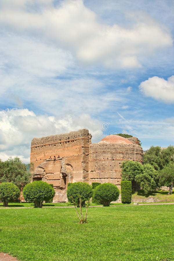 Archaeological site in Tivoli near Rome stock photography