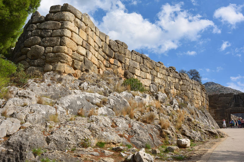 Archaeological sites of Mycenae and Tiryns, Greece royalty free stock photos