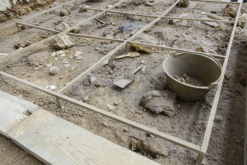 archaeological utgrävning arkivbild