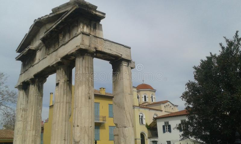 Archaeology in Athene. A look at the Old City in Athene stock photography