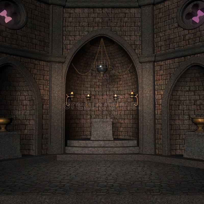 Archaic altar or sanctum in a fantasy setting vector illustration