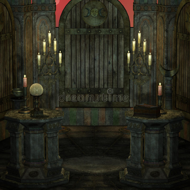 Download Archaic Altar Or Sanctum In A Fantasy Setting Stock Illustration - Illustration of adventure, clergy: 17922105
