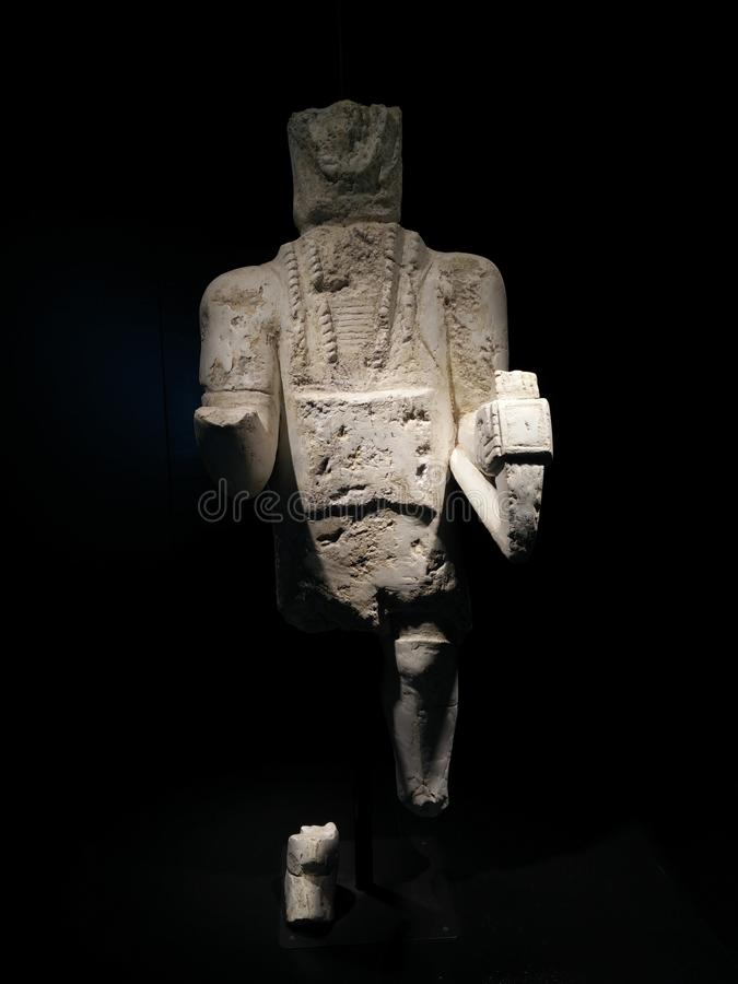 Sardinia. Archeological heritage. The Warriors of Monte Prama. stock photos