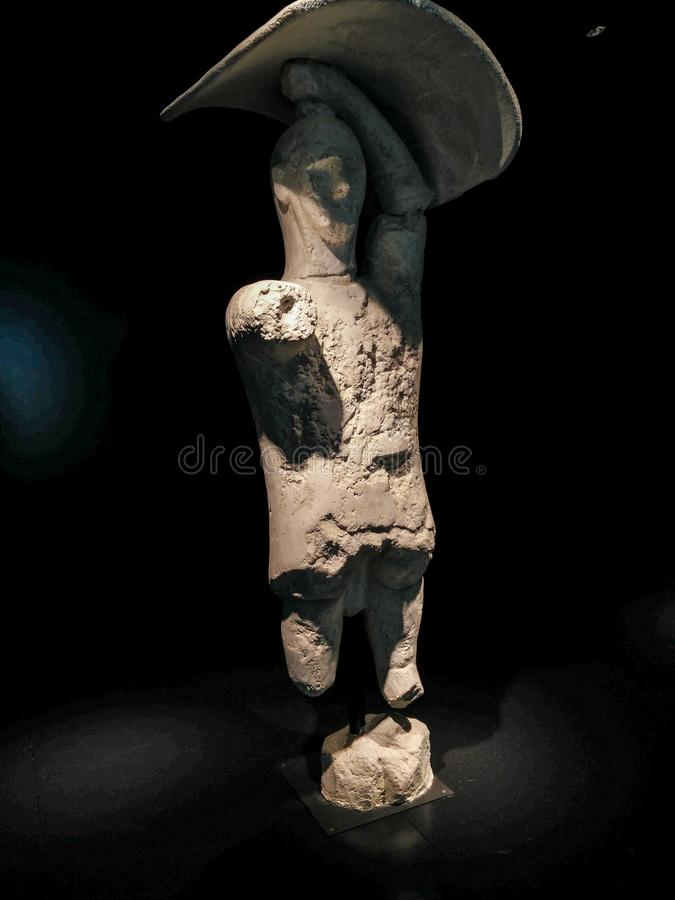 Sardinia. Archeological heritage. The Warriors of Monte Prama. royalty free stock images