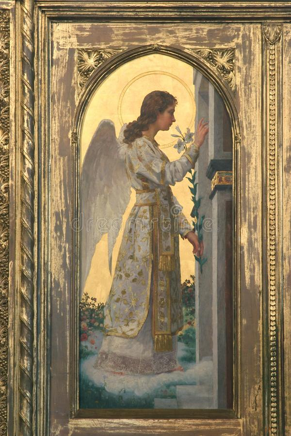 Archangel Gabriel. The Annunciation of the Virgin Mary royalty free stock image