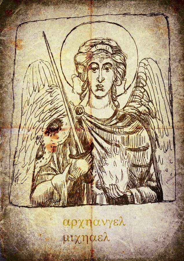 Archangel Michael royalty free illustration