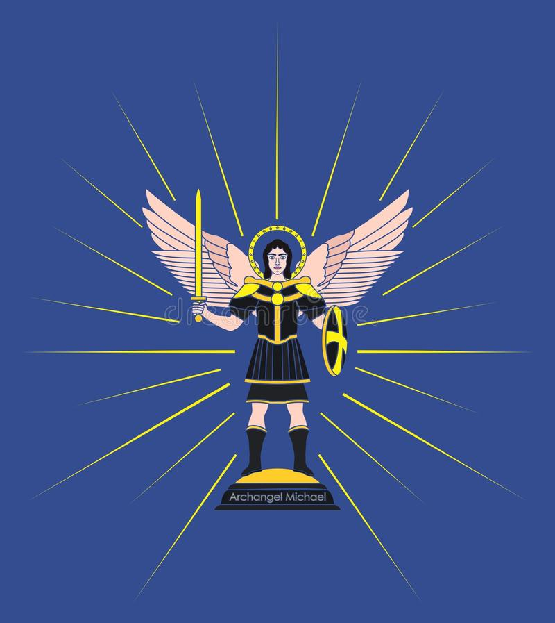 Archangel Michael Without Outline Stock Vector Illustration Of