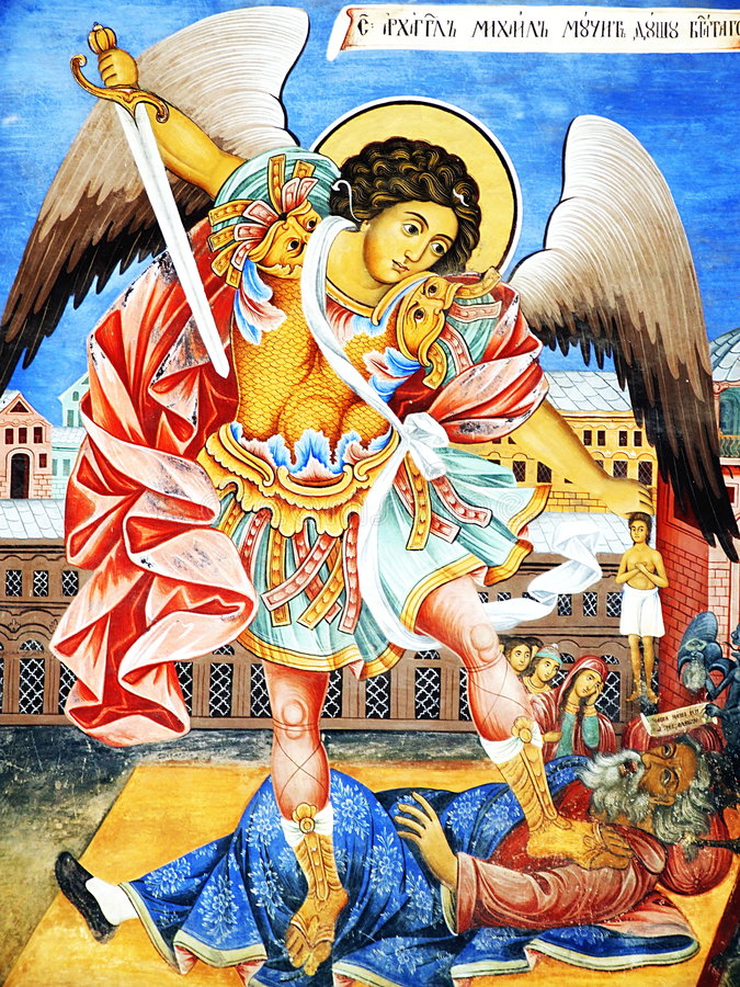 Download Archangel Michael Wall Icon Stock Image - Image: 2732133
