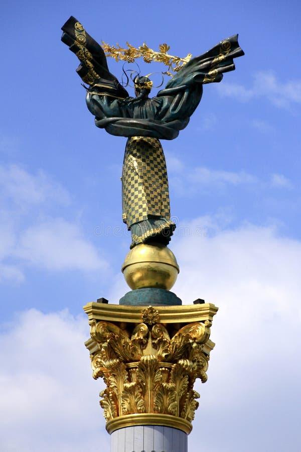 'Archangel Mikhail', Independence Column, Kiev stock image