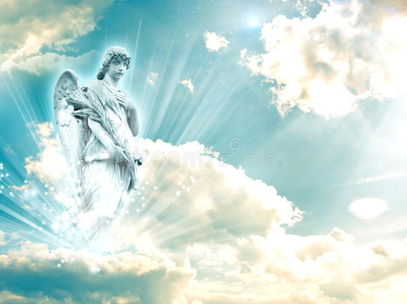 Archangel Rafael. With a book royalty free stock image