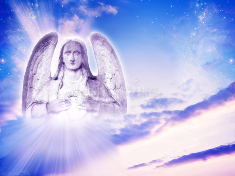 Archangel Uriel stock photo
