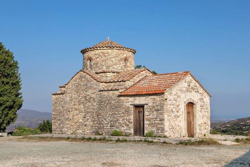 Archangelos迈克尔教会在Lefkara村庄,塞浦路斯 库存图片