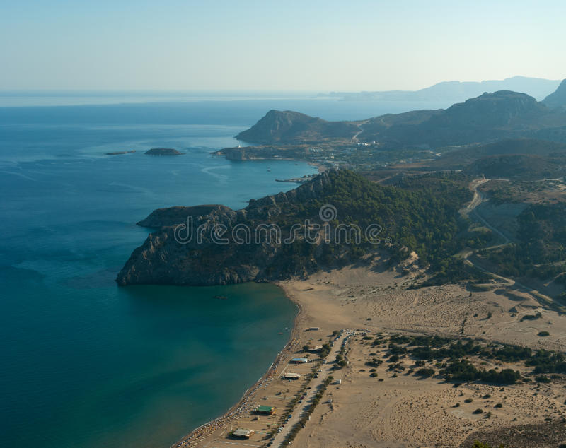 Archangelos Bay View Stock Photography