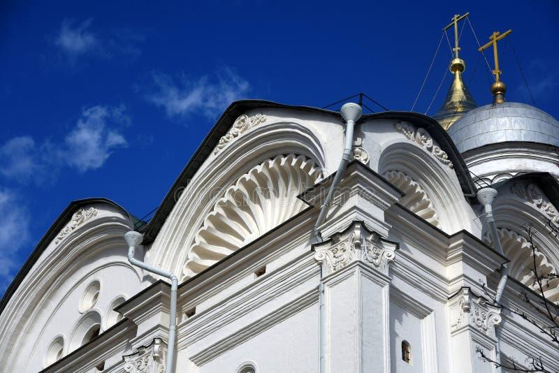 Archanioła kościelny szczegół Moskwa Kremlin architektura Unesco Światowego Dziedzictwa Miejsce zdjęcia stock