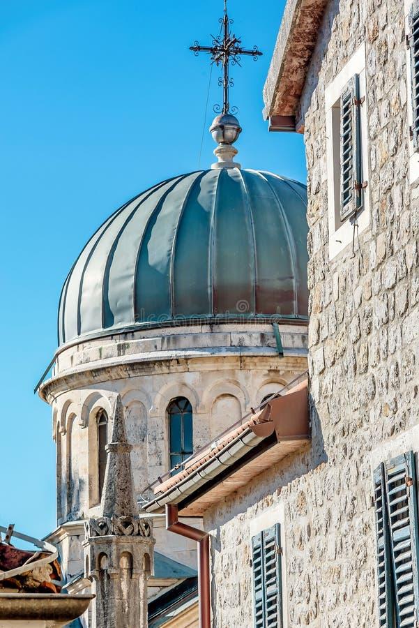 Archanioła Michale ortodoksyjny kościół w Starym miasteczku w Herceg Novi zdjęcia royalty free