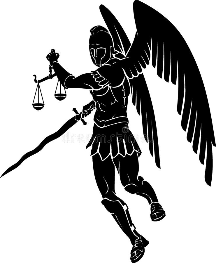Archanioła osądu symbol royalty ilustracja