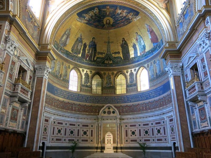 Archbasilica av St. John Lateran, Rome arkivbilder