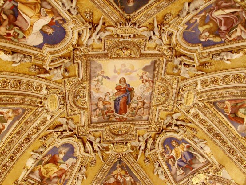 Archbasilica de St John Lateran - teto imagens de stock royalty free