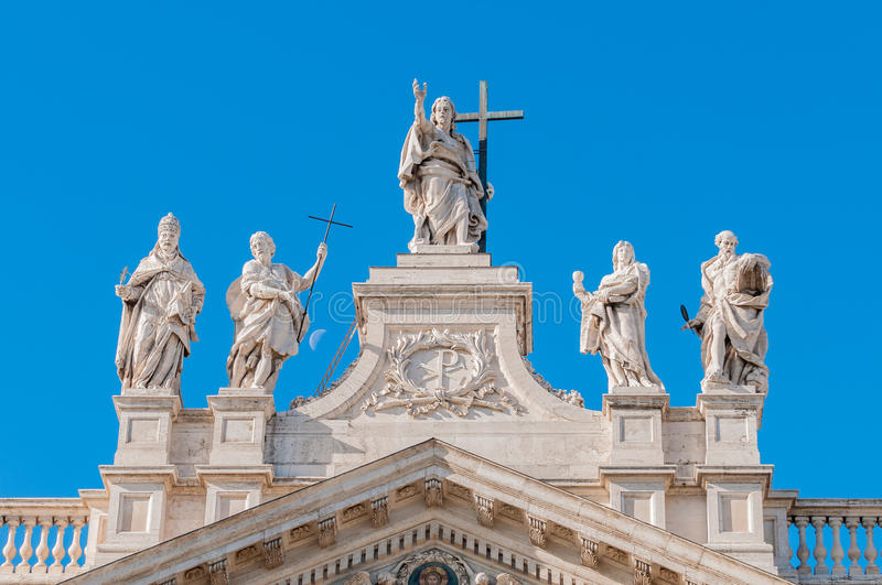 Archbasilica of St. John Lateran in Rome, Italy. The Papal Archbasilica of St. John Lateran (Arcibasilica Papale di San Giovanni in Laterano), the official stock photography