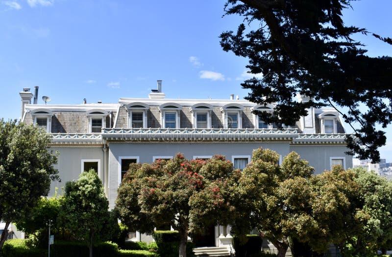 The Archbishop`s Mansion of San Francisco. royalty free stock photos