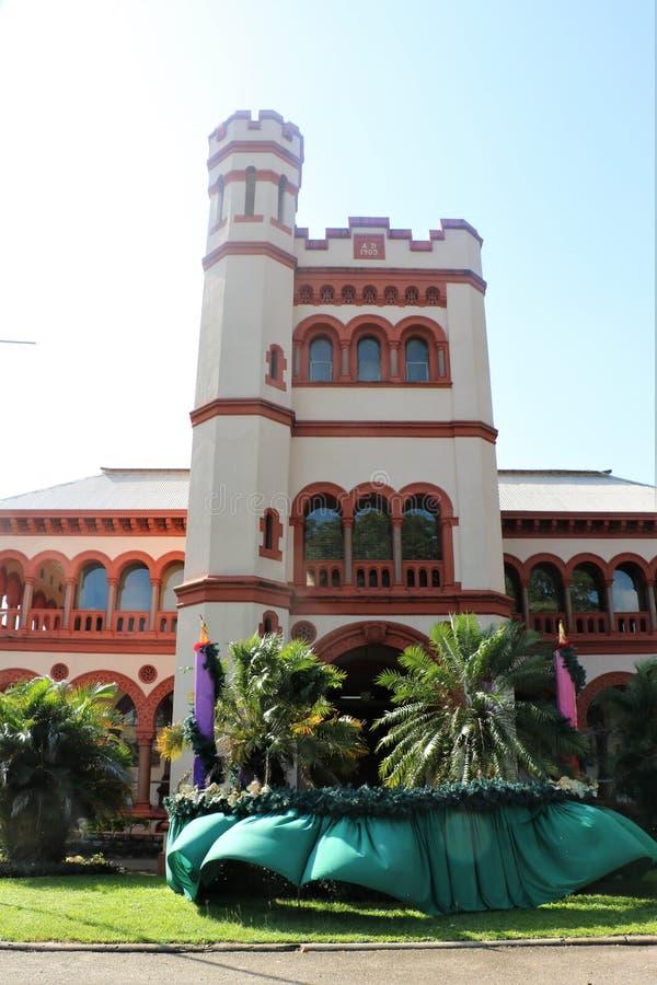 Archbishop ` s pałac w porcie Spain, Trinidad i Tobago, - - obrazy stock