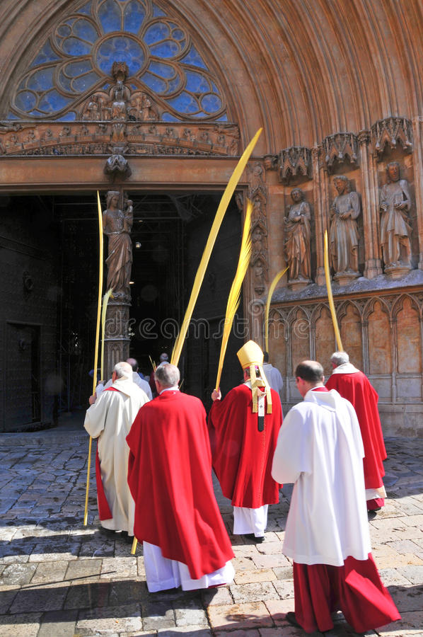 Download Archbishop Of Tarragona Entering The Cathedral Editorial Photo - Image: 19204756
