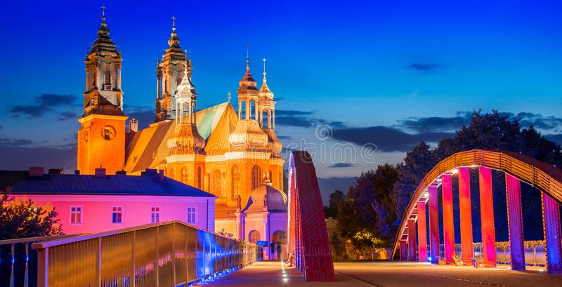 Cathedral in Poznan, Poland stock photos