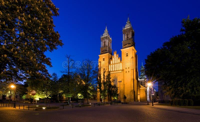 archcathedral Poznan fotografia royalty free