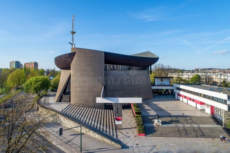 Arche d'Arka Pana Lord's d'église à Cracovie, Pologne image libre de droits