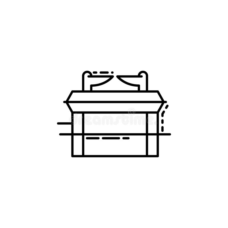 Arche d'icône d'engagement Élément d'icône juive pour les apps mobiles de concept et de Web La ligne mince arche de l'icône d'eng illustration libre de droits