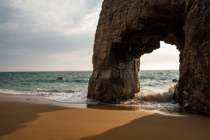 Arche du Port Blanc, Quiberon, Bretagne lizenzfreies stockfoto