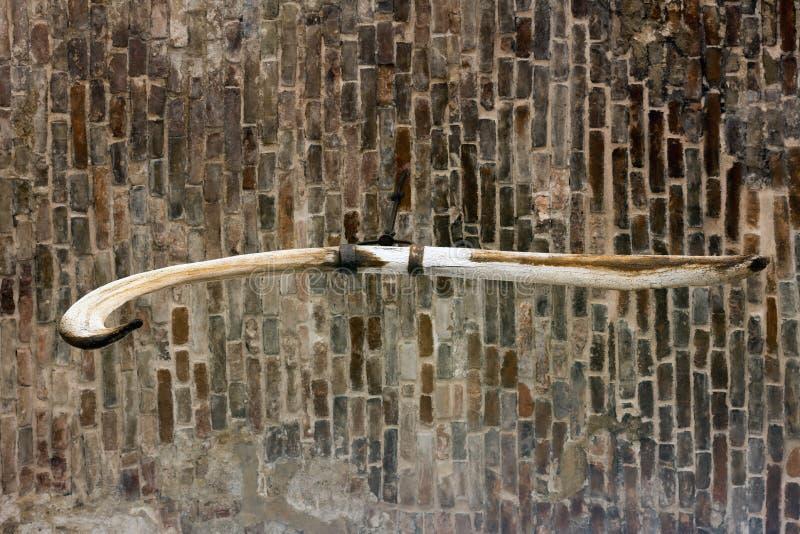 Arche mit dem hängenden Walknochen stockbild