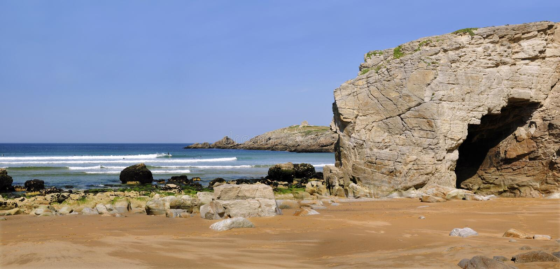 Arche no litoral de Quiberon em France fotografia de stock royalty free