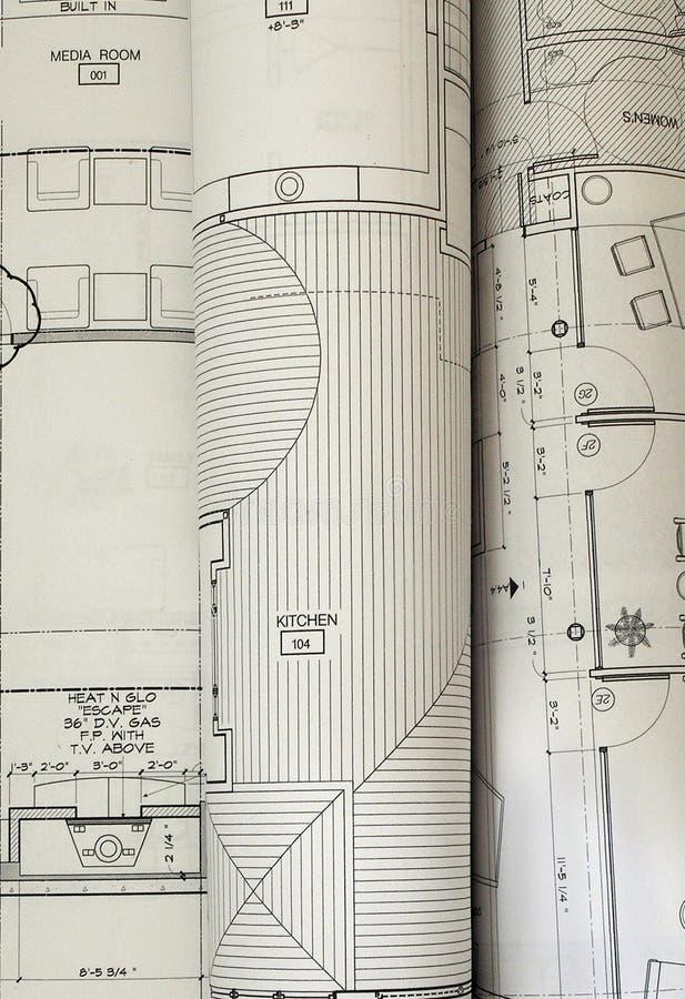 Archecture Pläne stockfotos