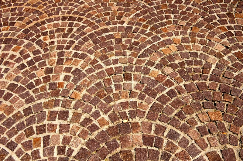 Arched Brick Background Pattern Stock Photo