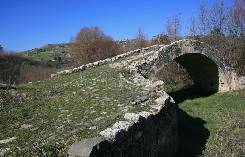 Arched bridge stock images