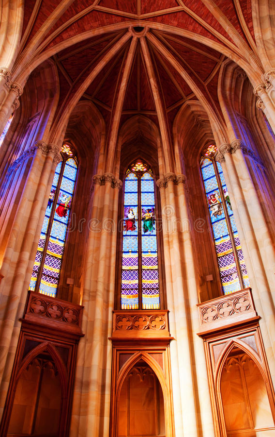 Download Arched Ceiling With Stained Glass Windows Stock Photo - Image: 22310990