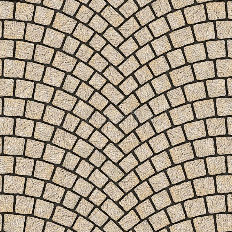 Arched cobblestone pavement texture 068 royalty free illustration