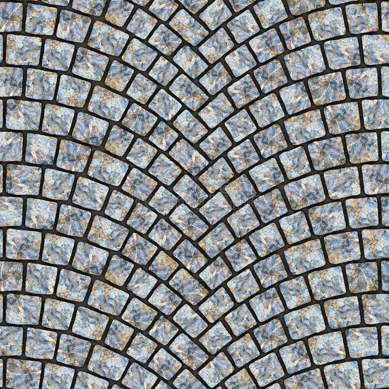 Arched cobblestone pavement texture 038 vector illustration
