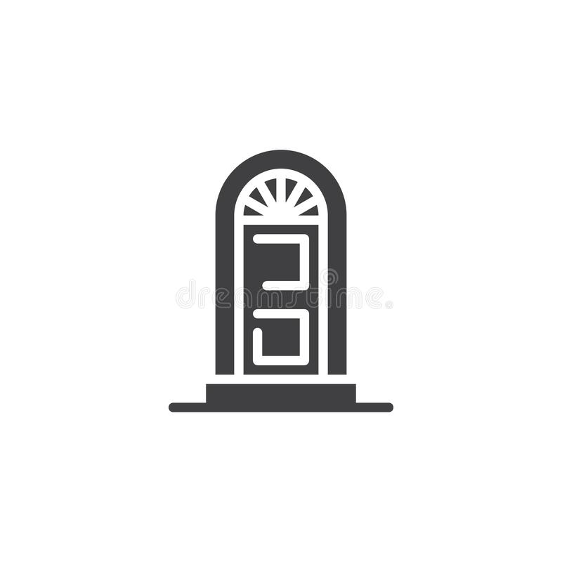 Arched door vector icon. Filled flat sign for mobile concept and web design. Home door simple solid icon. Symbol, logo illustration. Pixel perfect vector vector illustration
