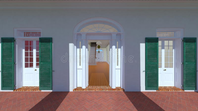 Arched doorway. 3D CG rendering of the arched doorway royalty free illustration