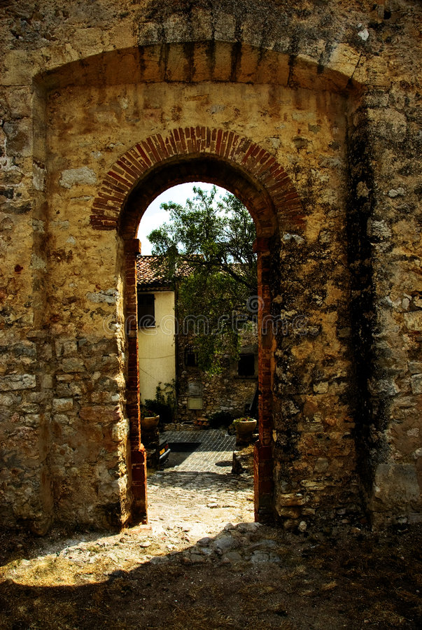 Download Arched Doorway In Wall Stock Image - Image: 3025411