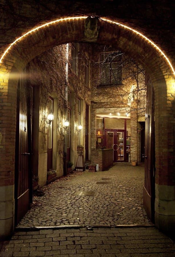 Download Arched Entrance stock image. Image of brick, devil, bruges - 15696673