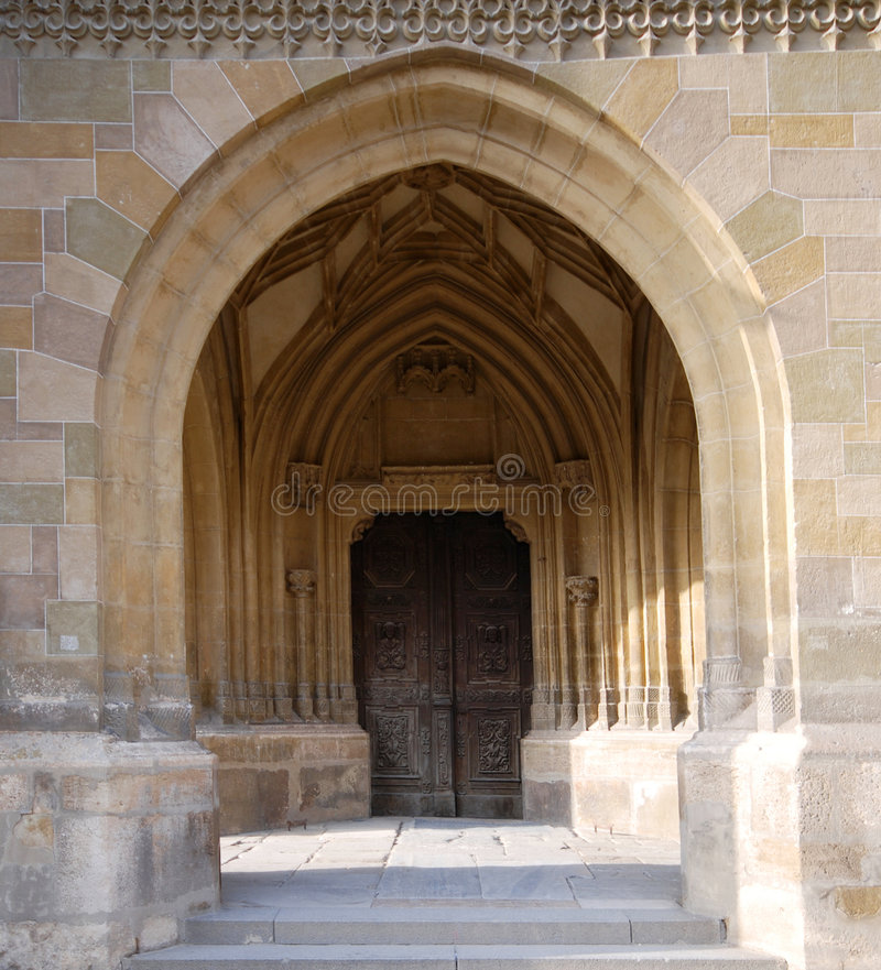 Arched Entry to Doorway stock photos