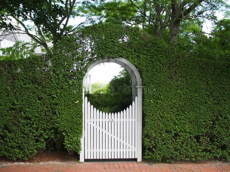 Download Arched Garden Arbor And Gate Stock Photo   Image: 43471496