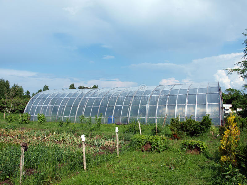 Arched greenhouse 2 stock images