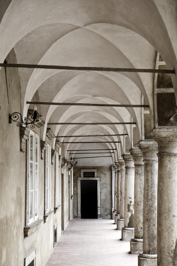 Arched Hallway Stock Images