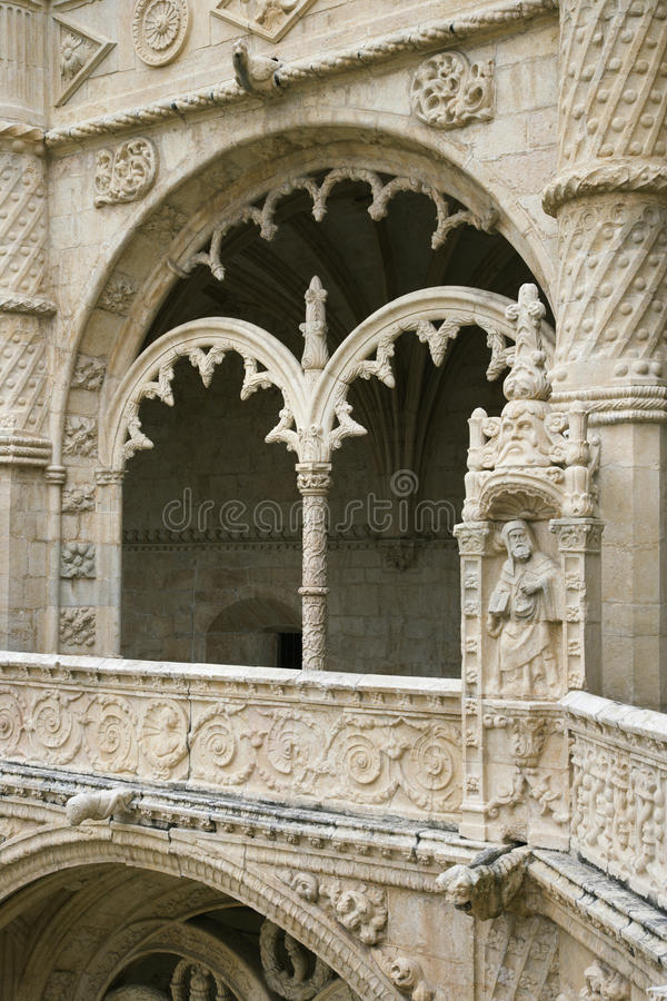Arched Ornate Relief At The Monastery Of Jeronimos Stock Photo