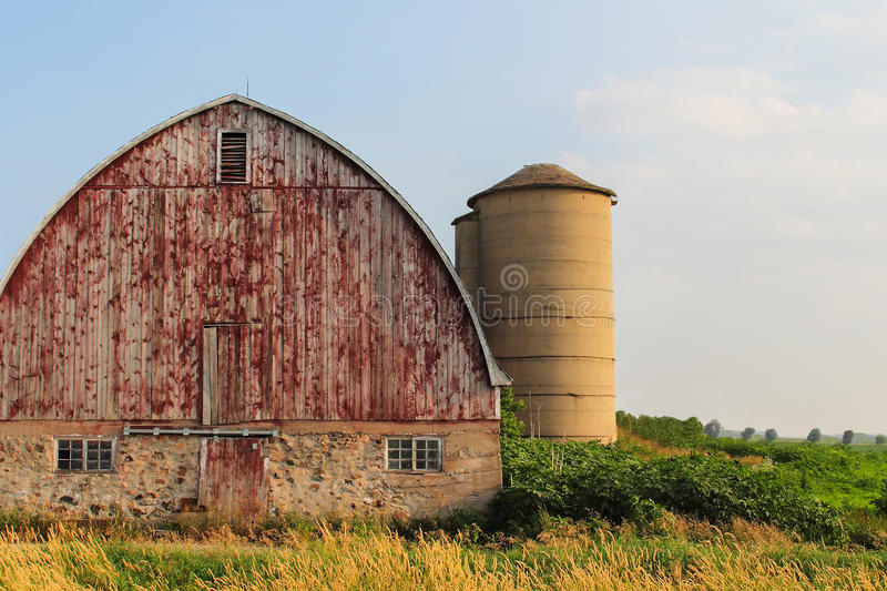 Arched Roof Barn royalty free stock photo